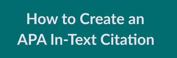 apa in text citation