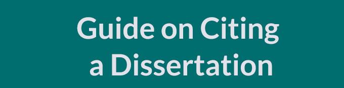 Cite dissertation